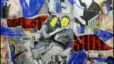 """""""Six roses"""" Composition à base d'affiches lacérées de Paris, Steven Riollet Artiste Affichiste"""