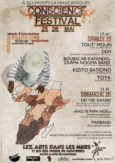 """Festival à Montreuil """"Conscience-Fest"""""""