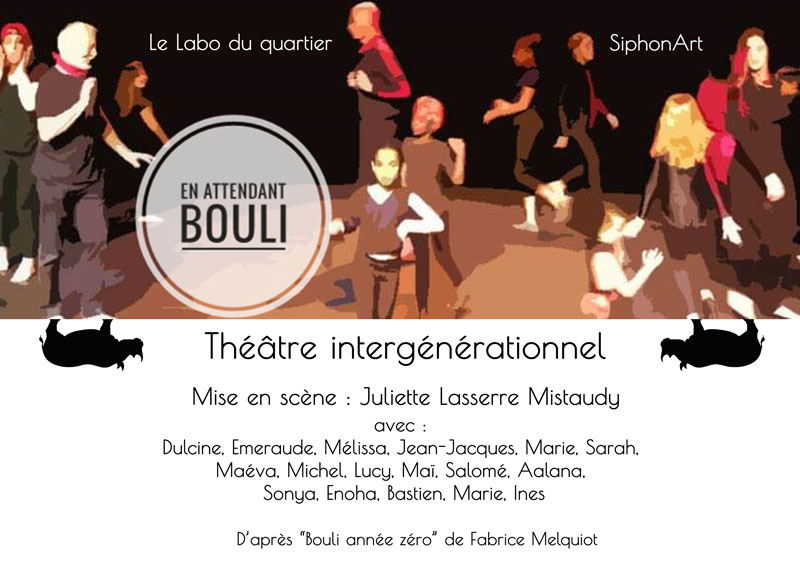 """#Siphonart, Labo du quartier """"en-attendant-bouli"""" 2018/2019"""