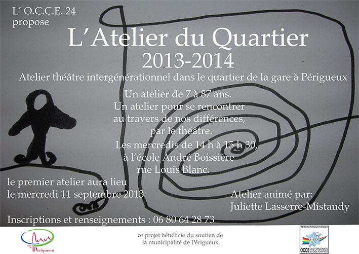 Atelier Théâtre intergénérationnel saison 2013-2014