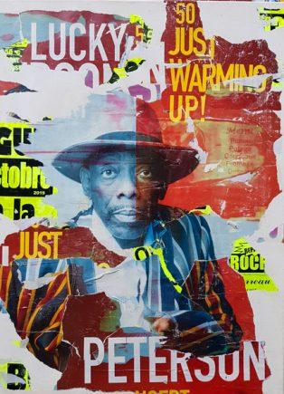 feu Lucky peterson, 80x60cm, #stevenriollet, #artiste affichiste