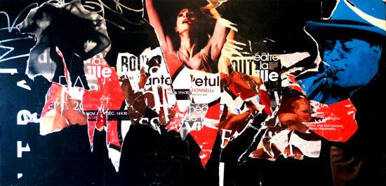 Etul au théâtre de la ville, tableau de l'artiste Steven Riollet