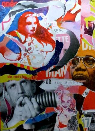 Dibango Vian, de mèche. Tableau de l'artiste Steven Riollet